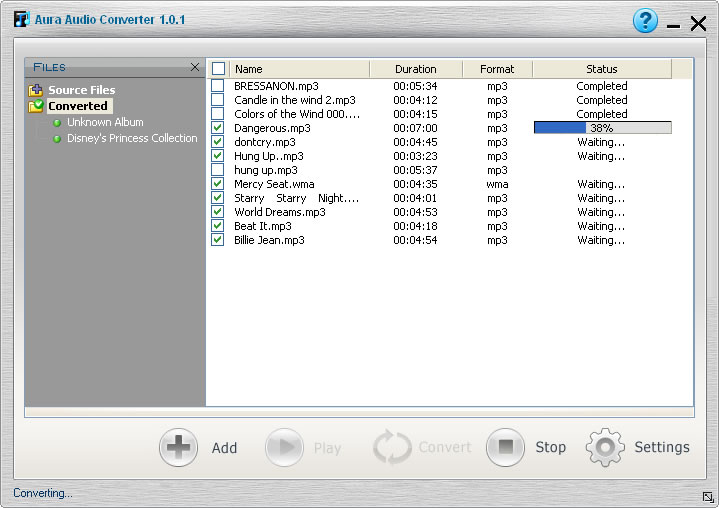 Converting DRM music and DRM-free music to MP3 audios