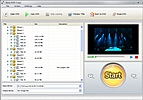 Main window of Aura DVD Copy software