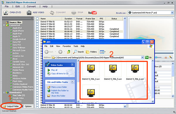 Get output video file of Transformers 2