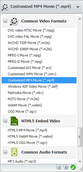 Convert videos for Ascend W1