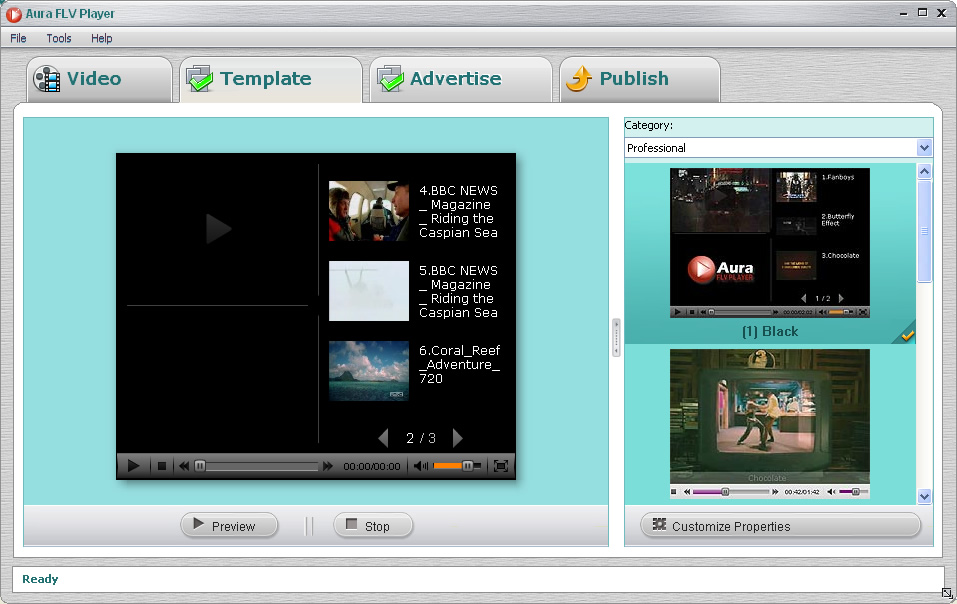 Embedding your Flash videos in professional playlist