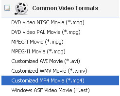 Use Samsung Galaxy S video converter to convert video to mp4 formats
