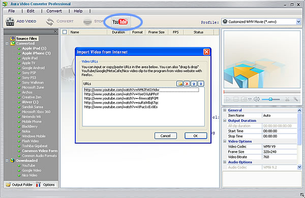 Download YouTube videos with the YouTube to Nokia 5800 XpressMusic Converter