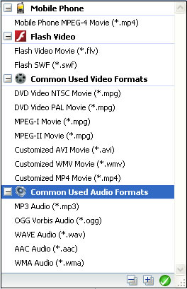 Free WMV to AAC audio converter output video formats