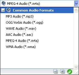 Audio output format of MOV to OGG
