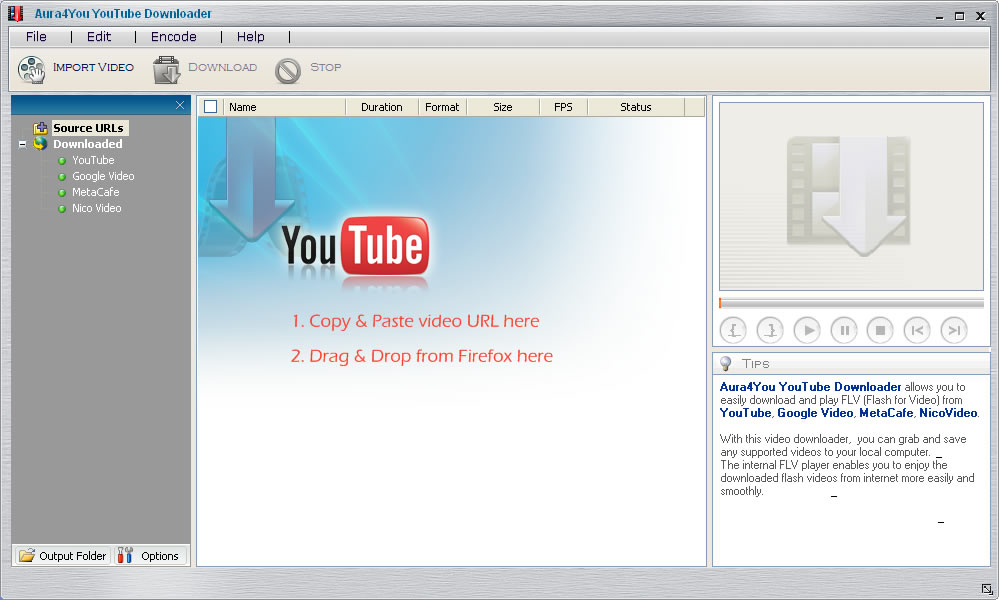Download free video converter, free FLV player and free